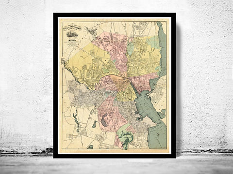 Old,Map,of,Providence,1899,Rhode,Island,Vintage,rhode island, providence, providence rhode island, map of providence, providence map, providence poster, map reproduction