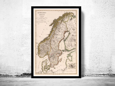 Old,Vintage,Map,of,Norway,Sweden,and,Denmark,Scandinavia,1824,Art,Reproduction,Open_Edition,vintage,old_map,antique,illustration,sweden,norway,scandinavia,sweden_map,norway_map,scandinavia_map,sweden_art,norwegian,stockholm, old map of sweden, sweden map, swedish art, map of sweden
