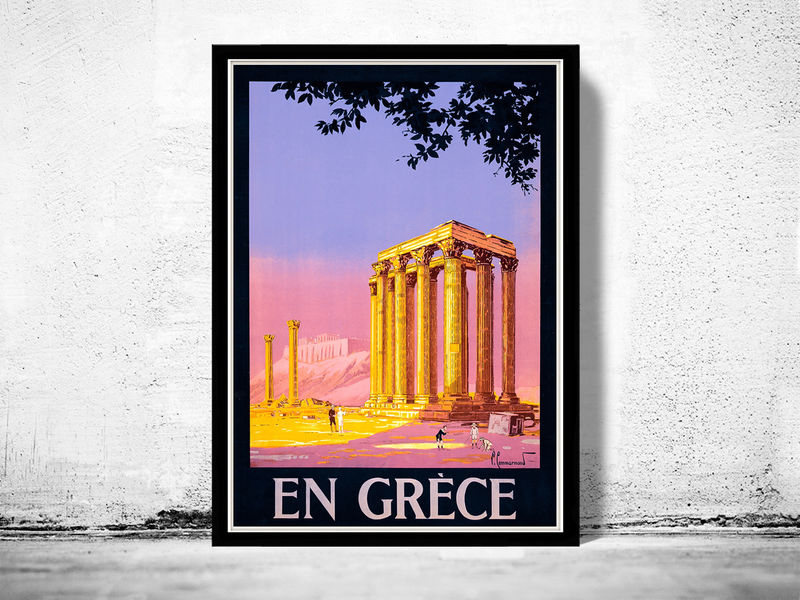 Vintage Poster of Greece 1930 Tourism poster travel - product images