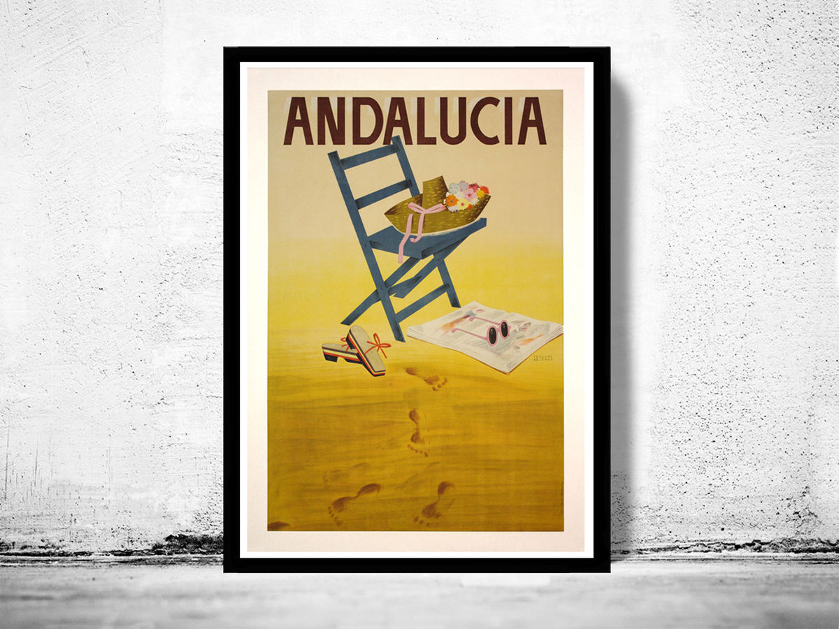 Vintage Poster of Andalucia Spain, Travel Poster Tourism - product images  of