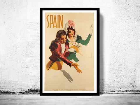 Vintage,Poster,of,Spain,,Travel,Tourism,1941,Art,Reproduction,Open_Edition,vintage_poster,musicians,retro_poster,travel_poster,touristic_poster,tourism_spain,spain_decor,spain_travel_poster,spain_wall_decor,vintage_spain,spain_retro,spain_travel