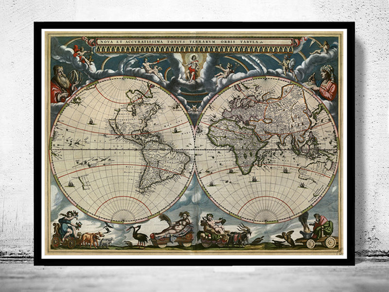 Old World Map Antique 1684 - product image
