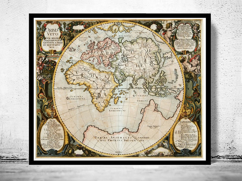 Antique Old World Map Antique 1652 - product image