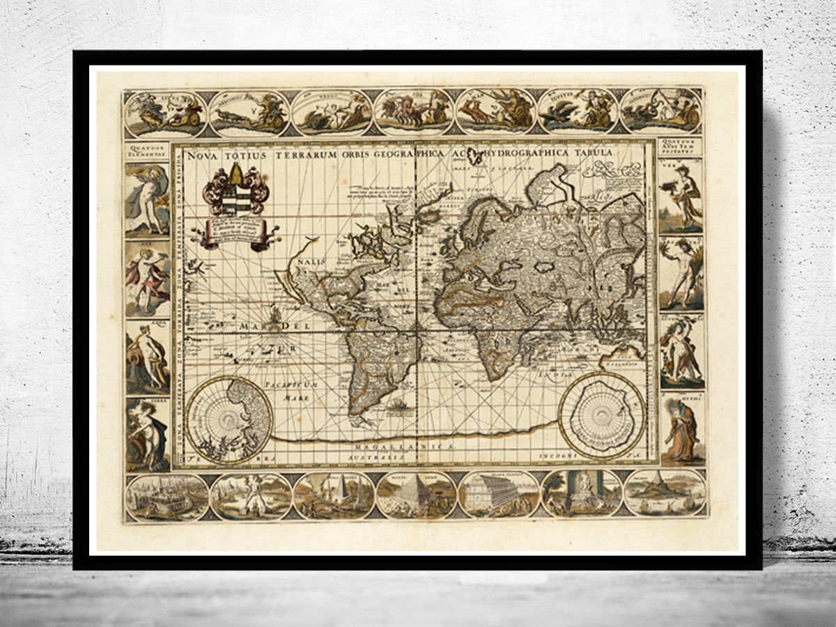 World Map antique 1640 - product images  of