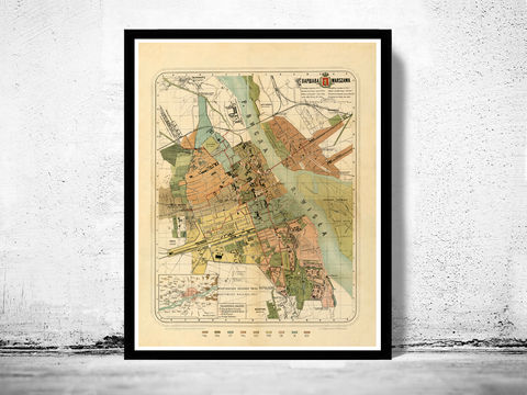 Old,Map,of,Warsaw,1885,Poland,warszawa, Art,Reproduction,Open_Edition,city,vintage,illustration,gravure,vintage_map,city_plan,poland,warsaw,1831,old_map,vintage_poster