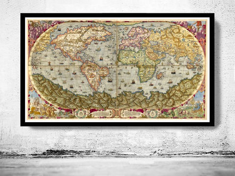 Old,World,Map,1593,New,discoveries,Art,Reproduction,Open_Edition,World_map,old_map,antique,atlas,explorations,vintage_poster,city_plan,earth_atlas,map_of_the_world,world_map_poster,old_world,vintage_world_map, exploration, new world map