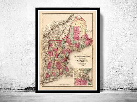 Old,Map,of,New,England,1871,Vintage,Art,Reproduction,Open_Edition,old_map,vintage_map,Canada,vintage_poster,new_england,new_england_map,map_of_new_england,oldcityprints,new_england_vintage,new_england_poster,vintage_new_england