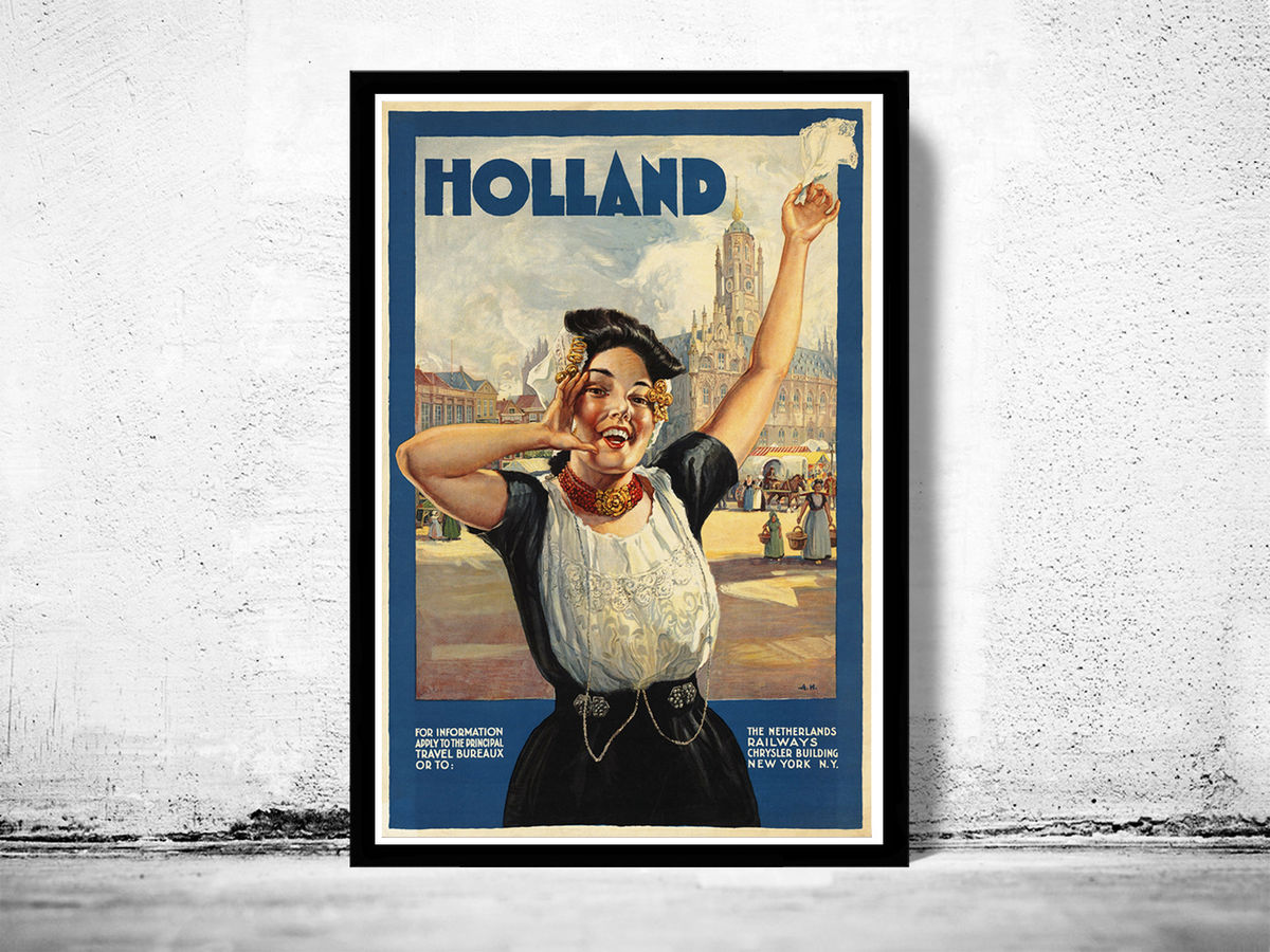 Vintage Poster of Holland Netherlands - product images  of