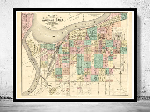 Vintage,map,of,Kansas,City,,Missouri,,1882,antique maps to buy, Art,Reproduction,Open_Edition,United_States,panoramic_view,birdseye,vintage_map,old_map,texas_poster,kansas_poster,kansas,kansas_missouri,kansas_city_view,kansas_map,missouri,vintage_kansas, kansas city, map of kansas city, kansas mis