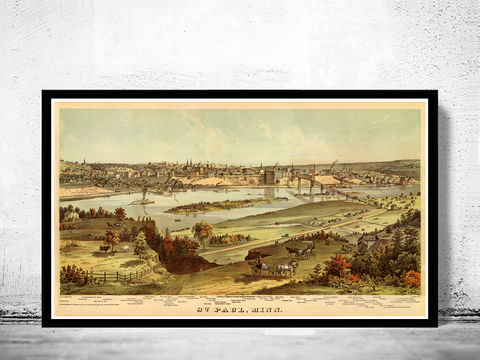 Old,View,of,Saint,Paul,Minnesota,1874,Art,Reproduction,Open_Edition,United_States,panoramic_view,birdseye,vintage_map,old_map,old_saint paul,saint paul minnesota,st paul_city,saint paul_birdseye,saint paul old_map,saint paul_poster,map_of_saint paul minnesota