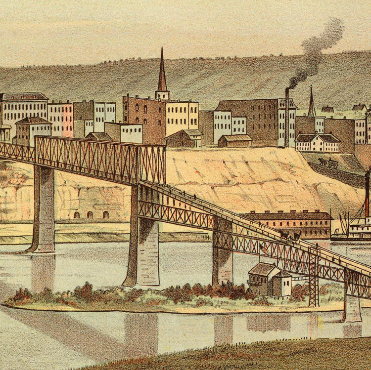 Old View of Saint Paul Minnesota 1874 - product image