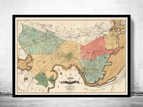 Old,Map,of,Cambridge,,Massachusetts,1878,map of cambridge, cambridge, cambridge massachusetts, cambridge poster, map of cambridge, old map, vintage map