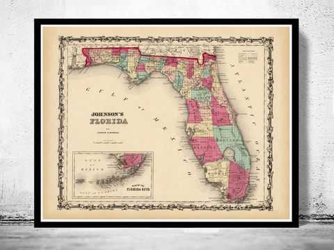 Old,Map,of,Florida,1860,Art,Reproduction,Open_Edition,United_States,USA,retro,florida,florida_map,florida_vintage,old_map_of_florida,florida_retro,antique_florida,florida_poster,florida_gift,old_map_florida,west_coast