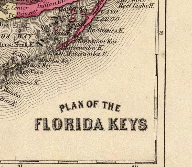Vintage Map of Florida 1860 - product image