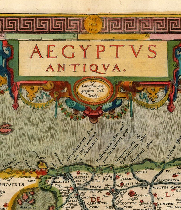 Old Map of Egypt 1584 - product image