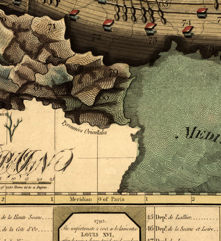 Old Map of France represented under the form of a ship 1796 - product images  of