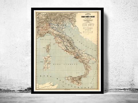 Old,Map,of,Italy,1891,italia,antique map, old map,Art,Reproduction,Open_Edition, italy map, map of italy,italy,italie,mediterranean_sea,Vintage_map,vintage_poster,old_map,old_map_of_italy,antique_map_italy,map_poster