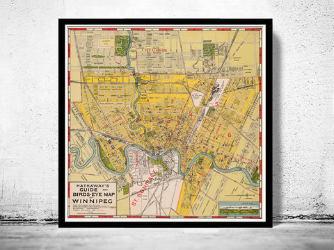 Old,Map,of,Winnipeg,Manitoba,Canada,1927,Vintage,manitoba, winnipeg, map of winnipeg, winnipeg map, winnipeg poster