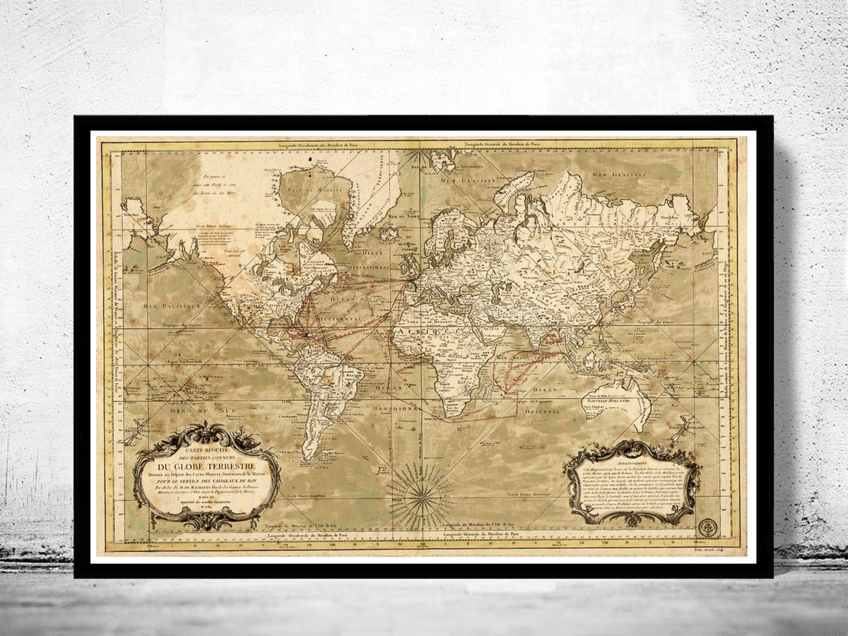 Old World Map 1784 New discoveries - product images  of