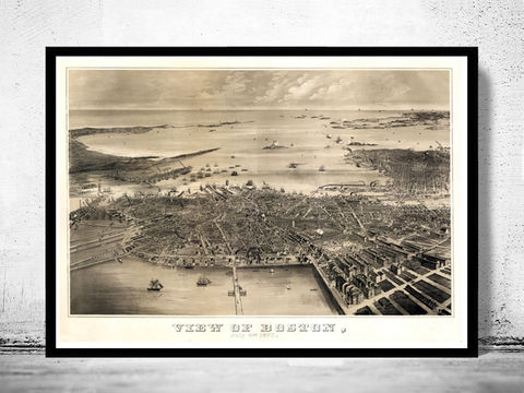 Old,Panoramic,View,of,Boston,,United,States,America,Charlestown,,Roxbury,Massachusetts,Vintage,1870,Art,Reproduction,Open_Edition,illustration,United_States,Boston,city_map,retro,antique,old_map,vintage_map,boston_map,birdseye_view,boston_city