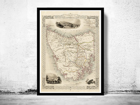 Vintage,Map,of,Tasmania,,Old,map,1851,Art,Reproduction,Open_Edition,old_map,antique_map,historic_map,old_map_new_zealand,australia_tasmania,tazmania,tasmania_antique,map_of_tasmania,tasmania,tasmania_map,tasmania_vintage,antique_tasmania,tasmania_poster