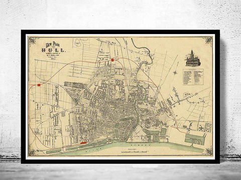 Old,Map,of,Kingston,upon,Hull,1882,England,Vintage,Art,Reproduction,Open_Edition,kingston upon ull, hull map, hull uk, hull poster, maps reproductions, maps for sale, maps and prints