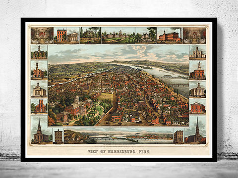 Birdseye,View,of,Harrisburg,Pennsylvania,,,Panoramic,view,United,States,Vintage,1855,harrisburg, harrisburg map, map of harrisburg, Art,Reproduction,Open_Edition,United_States,panoramic_view,urban,birdseye,vintage_map,old_map_harrisburg,harrisburg_map,harrisburg_plan,city_pennsylvania,harrisburg_vintage,pennsylvania_map,pennsylvania_vinta