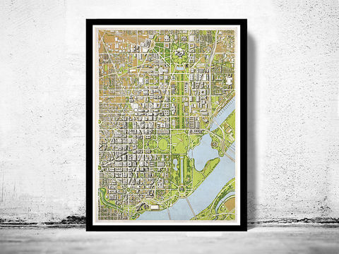 Old,map,of,Washington,City,1960,Vintage,Map,washington DC, washington, washington map, panoramic, birdseye view, washington poster
