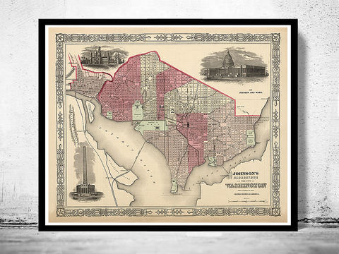 Old,Map,Washington,State,1864,Vintage,of,Art,Reproduction,Open_Edition,old_map,vintage_poster,earth_atlas,antique_map,washington,washington_map,map_of_washington,washington_poster,washington_vintage,washington_state,washington_city