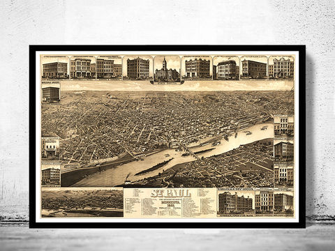 Vintage,Panoramic,View,of,St,Paul,Minnesota,Birdseye,1883,Art,Reproduction,Open_Edition,city_map,retro,birdseye,panoramic,vintage_map,birdseye_view,saint_paul,st_paul_minnesota,st_paul_decor,saint_paul_map,st_paul,minnesota,st_paul_poster