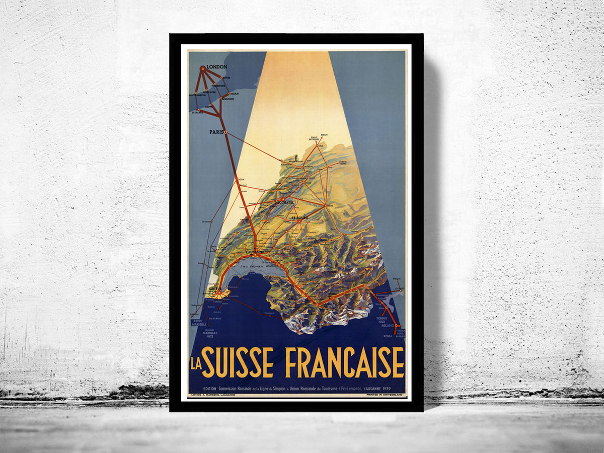 Vintage Poster of Switzerland Suisse Française 1939 - product images  of