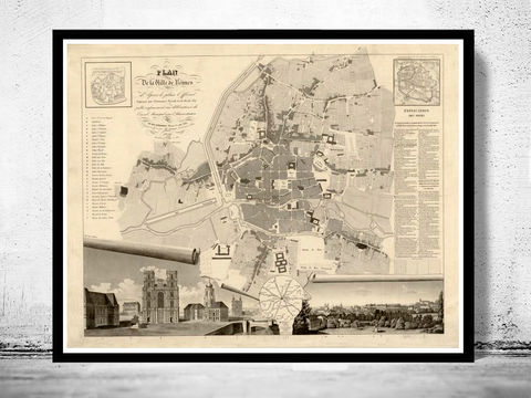 Old,Map,of,Rennes,France,1830,Art,Reproduction,Open_Edition,vintage,gravure,vintage_map,french art, maps for sale, buy map,rennes, rennes france, rennes poster, rennes map, map of rennes, map reproductions , old maps for sale, maps repr
