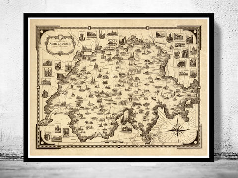 Old,Map,of,Switzerland,Schweiz,Pictorial,Art,Reproduction,Open_Edition,map,vintage,old_map,antique,illustration,switzerland_map,zwitzerland_decor,vintage_switzerland,switzerland_poster,vintage_retro,map_of_switzerland