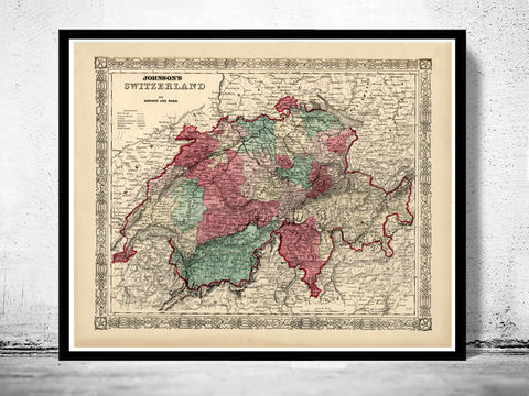 Old,Map,of,Switzerland,Antique,Schweiz,1865,Art,Reproduction,Open_Edition,map,vintage,old_map,antique,illustration,switzerland_map,zwitzerland_decor,vintage_switzerland,switzerland_poster,vintage_retro,map_of_switzerland