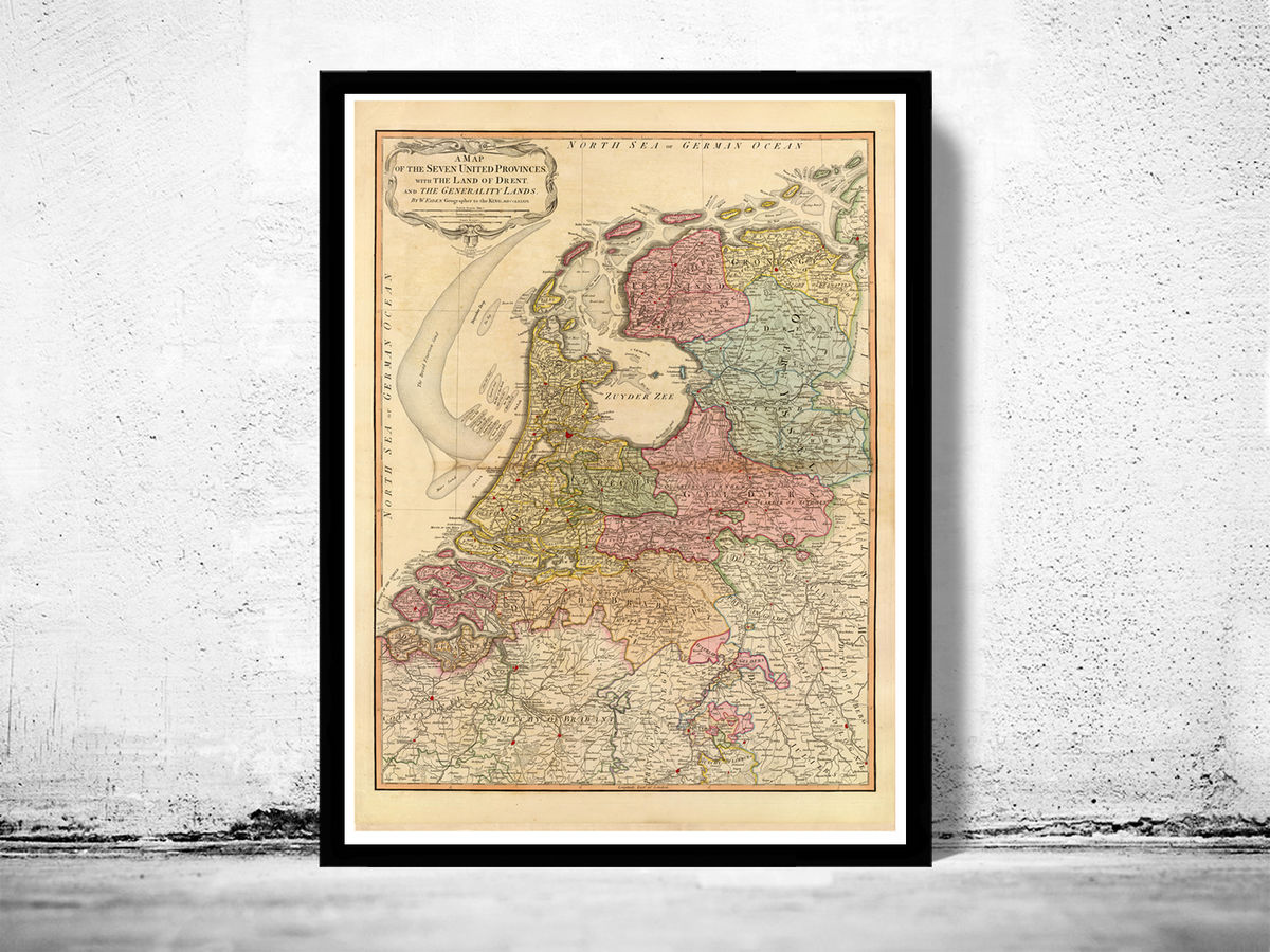 Old Map of The Netherlands Hollandia Holland 1831 Vintage Map - product images  of