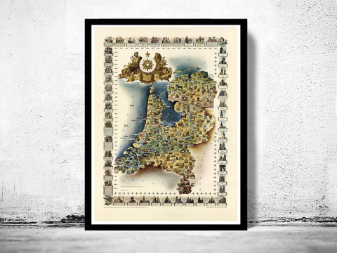 Old,Map,of,The,Netherlands,1960,Vintage,Art,Reproduction,Open_Edition,old_map,atlas,illustration,antique_map,belgium_map,netherlands_map,holland_map,dutch,amsterdam_map,old_belgium_map,historic_map,vintage_map