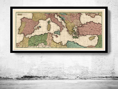 Old,Map,of,Mediterranean,Sea,1700,italy,italie,mediterranean_sea,Vintage_map,vintage_poster,old_map,antique map, mediterranean sea,old_map_of_italy,antique_map_italy,map_poster, mediterranean map