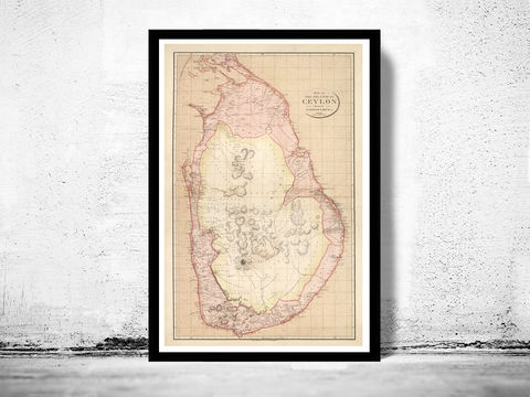 Old,Map,of,Sri,Lanka,Ceylon,1805,Vintage,ceylon map, old map of sri lanka, old sri lanka, sri lanka map, sri lanka poster, antique ceylon, maps reproductions
