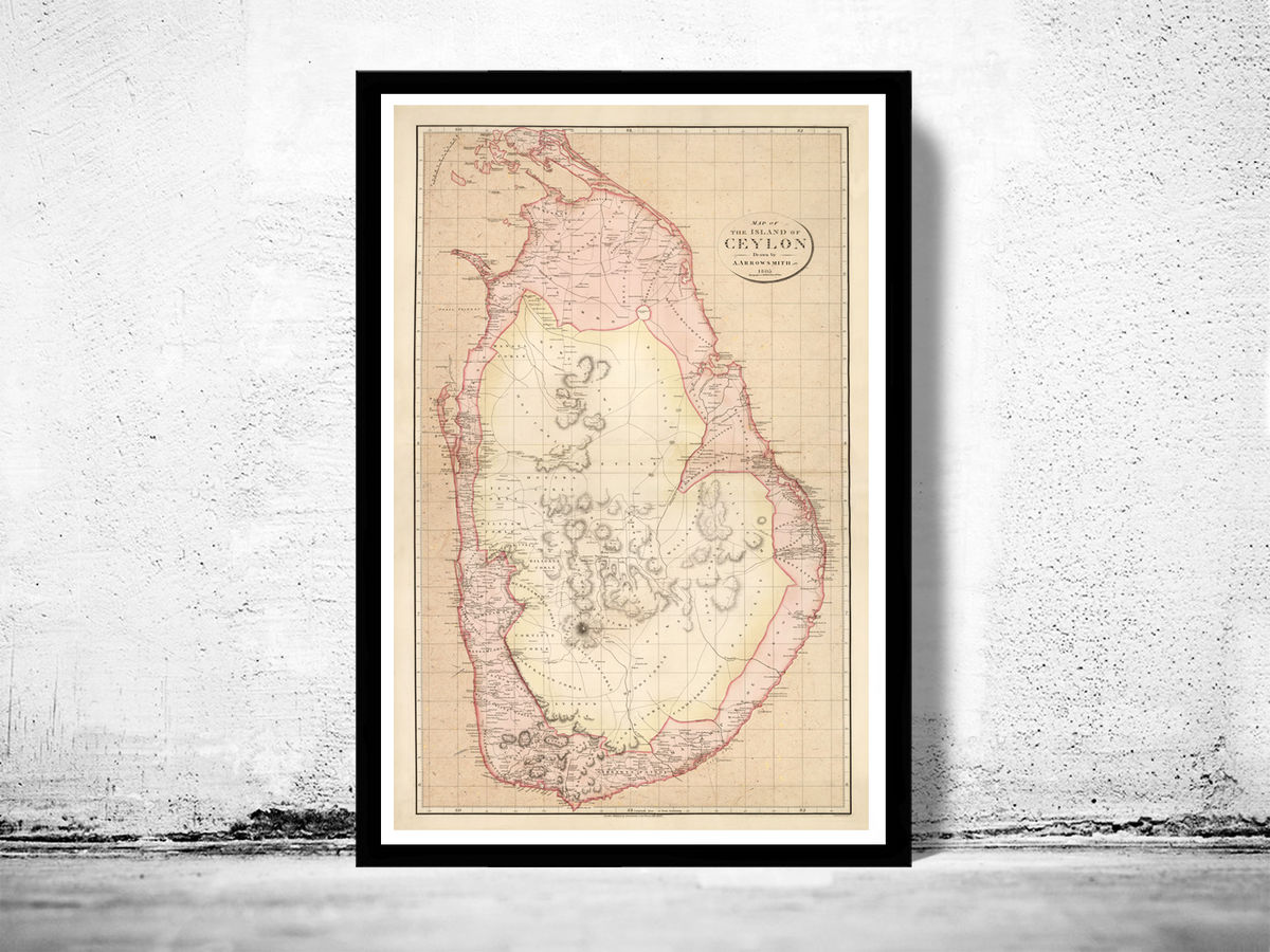 Old Map of Sri Lanka Old Ceylon 1805 Vintage Map - product images  of