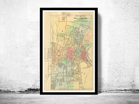 Old,Map,of,Hartford,1903,,Connecticut,hartford, hartford connecticut, hartford map, map of hartford, hartford poster, antique map, harford decor, old map