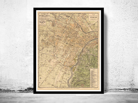 Old,Map,of,Turin,Torino,,Italy,1911,Art,Reproduction,Open_Edition,city_map,retro,antique,Europe,italy,italia,vintage_map,city_plan,old_map,turin, turim, torino, torino italia, torino poster, torino italy, map of turin, turin map, torino map