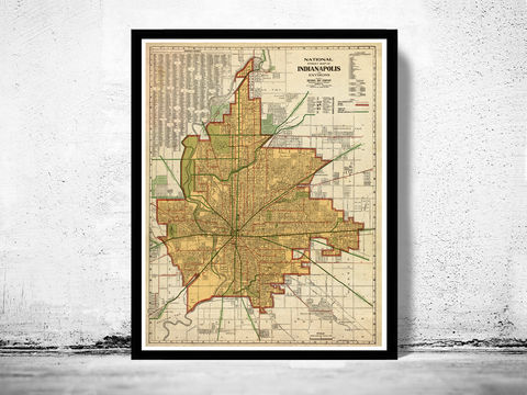 Old,Map,of,Indianapolis,1921,Art,Reproduction,Open_Edition,vintage,illustration,United_States,city_map,indianapolis,old_map,city_plan,vintage_map,indianapolis_map,indianapolis_poster,antique_map