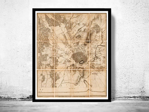 Old,Map,of,Athens,Acropolis,Greece,1870,Vintage,map,athens, map of athens, athens greece, greece map, greek art, athens poster, antique print, antique map
