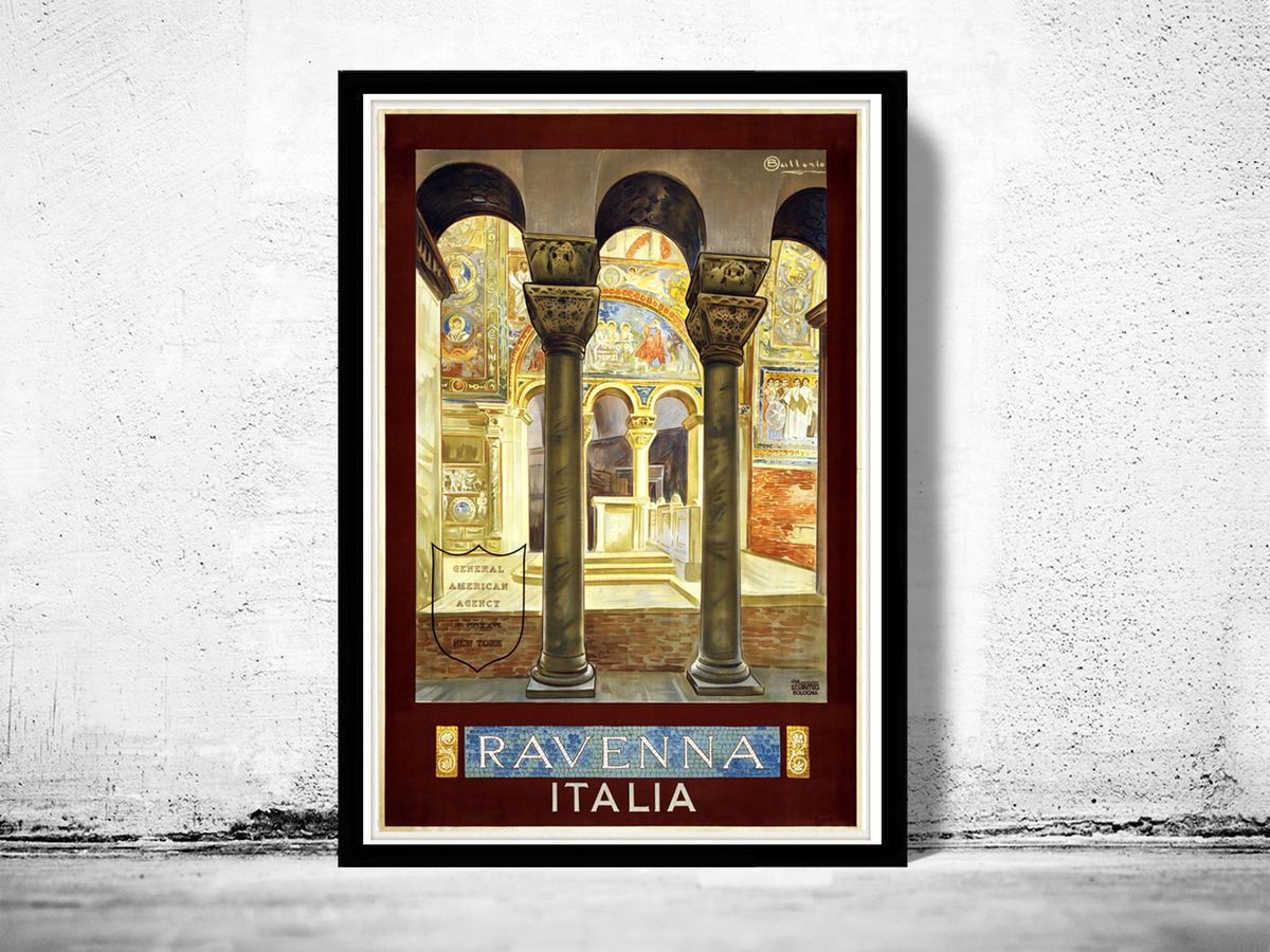 Vintage Poster of Ravenna Italy Italia  1930 Tourism  - product images  of
