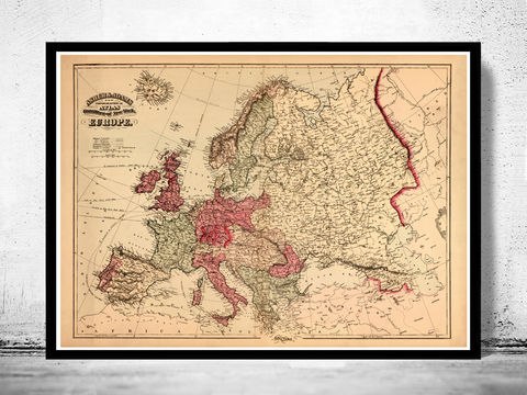 Old,Europe,Map,Antique,Atlas,1871,map of europe, europe, europe map, old map, vintage map, antique map
