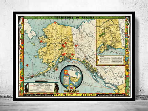 Old,Map,of,Alaska,Territory,North,America,1936,Art,Reproduction,Open_Edition,vintage_map,north_america,alaska,alaska_vintage,alaska_map,old_alaska_map,vintage_map_alaska,alaska_line,all_american_route,old_map_of_alaska