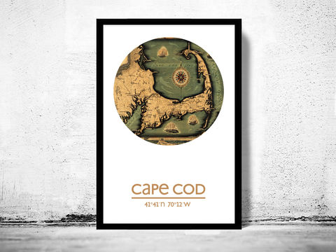 CAPE,COD,-,city,poster,map,print, CAPE COD print, CAPE COD poster, CAPE COD Poster, american art, CAPE COD, CAPE COD map, wall decor, city,maps, travel poster