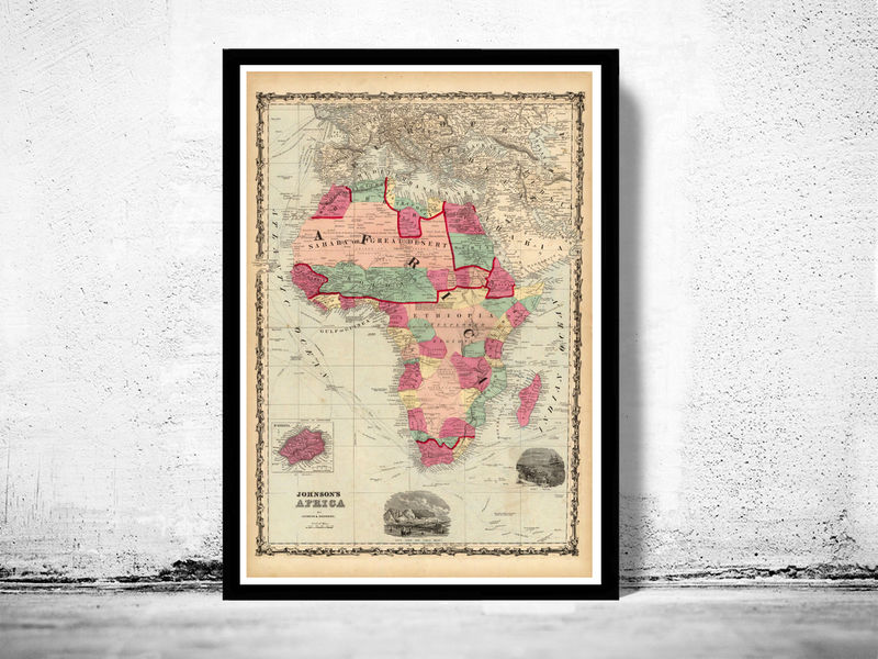 Old Map of Africa 1860 - product image