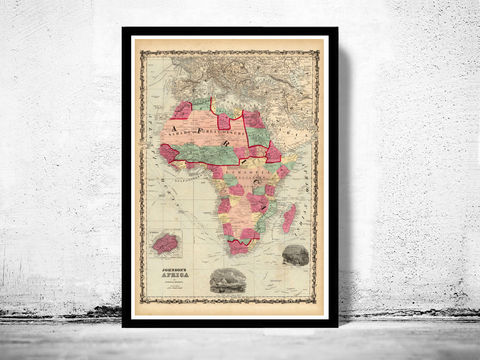 Old,Map,of,Africa,1860,Art,Reproduction,Open_Edition,atlas,Angola,old_map_of_africa,africa_map,vintage_map_africa,antique_africa_map,map_of_africa,antique africa,vintage africa,wall decor africa,africa decor,wall map africa