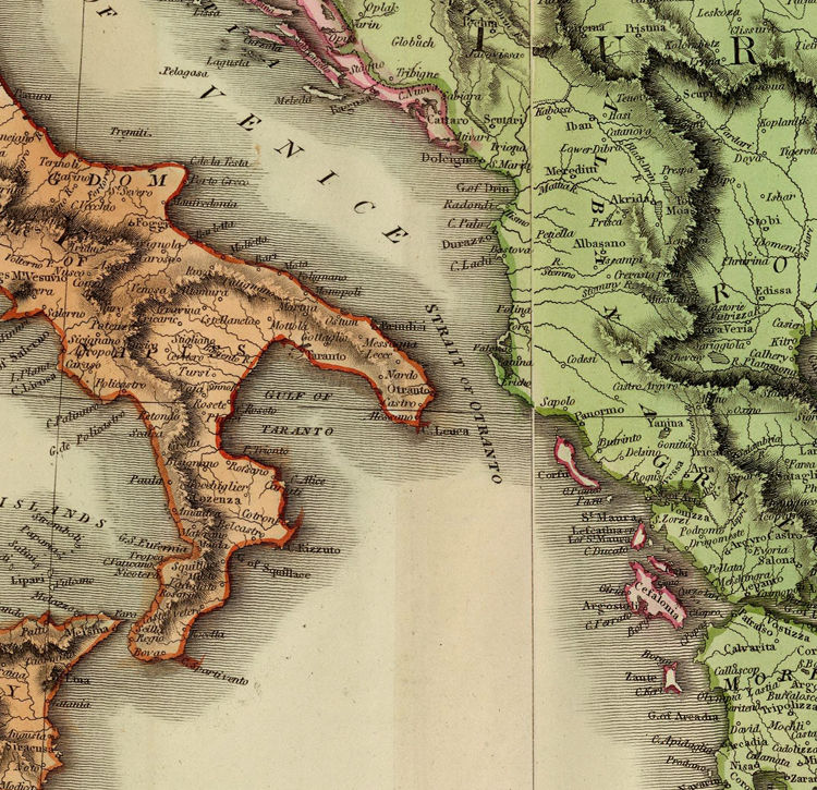 Beautiful Old Map of Europe 1816 (four plates) - product image
